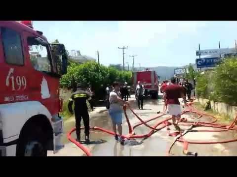 Πυρκαγιά σε σπίτι στα Χανιά (1)