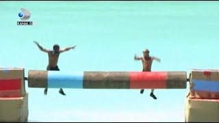 FOTOFINISH! Starlin si Zanni fac spectacol! Cine a cazut primul in apa? Scor extrem de strans!