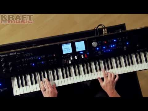 Kraft Music - Roland BK-9 Backing Keyboard Demo with Scott Berry