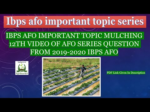IBPS AFO Important Topic Mulching 12th Video Of AFO Series