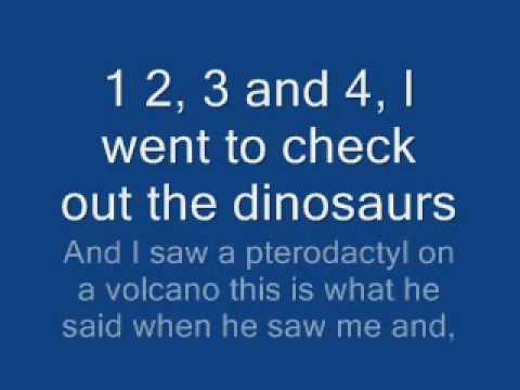 Amy Can Flyy - Dinosaurs Go Rawr - Lyrics