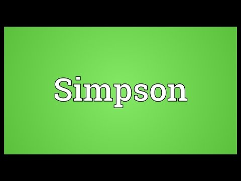 Simpson Meaning