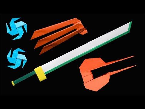 05 Ninja weapon - Origami ninja star/ Katana/ Sword/Knife