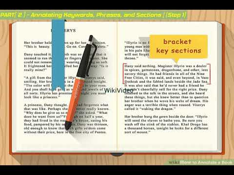 How to Annotate a Book - WikiVideo