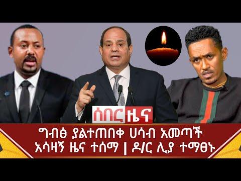 Ethiopia ሰበር ዜና - ግብፅ ያልተጠበቀ ሀሳብ አመጣች | አሳዛኝ ዜና ተሰማ | ዶ/ር ሊያ ተማፀኑ | Abel Birhanu | Hachalu hundessa