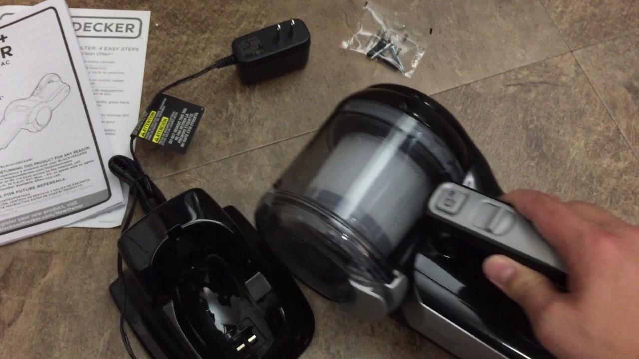 Black Decker Bdh2000pl >> Black Decker Bdh2000pl Max Lithium Pivot Vacuum 20 Volt Youtube