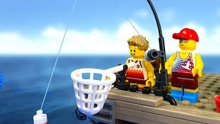 LEGO Extreme Fishing 🐙 LEGO Stop Motion Animation 🔴