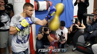 VASYL LOMACHENKO' S FULL WORKOUT 3 DAYS AWAY FROM GUILLERMO RIGONDEAUX FIGHT
