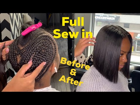 HOW TO: Full Sewin With Little Leave Out Bob Cut