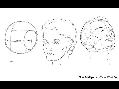 How to Draw the Head from Any Angle - Loomis Method thumbnail