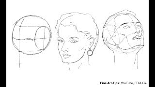 How to Draw the Head from Any Angle - Loomis Method