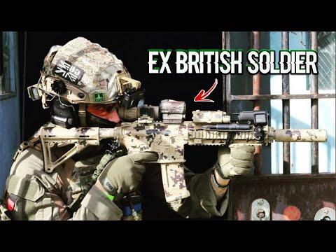 Ex Soldier plays AIRSOFT Intense CQB!!  (WRECKS ENEMY TEAM)