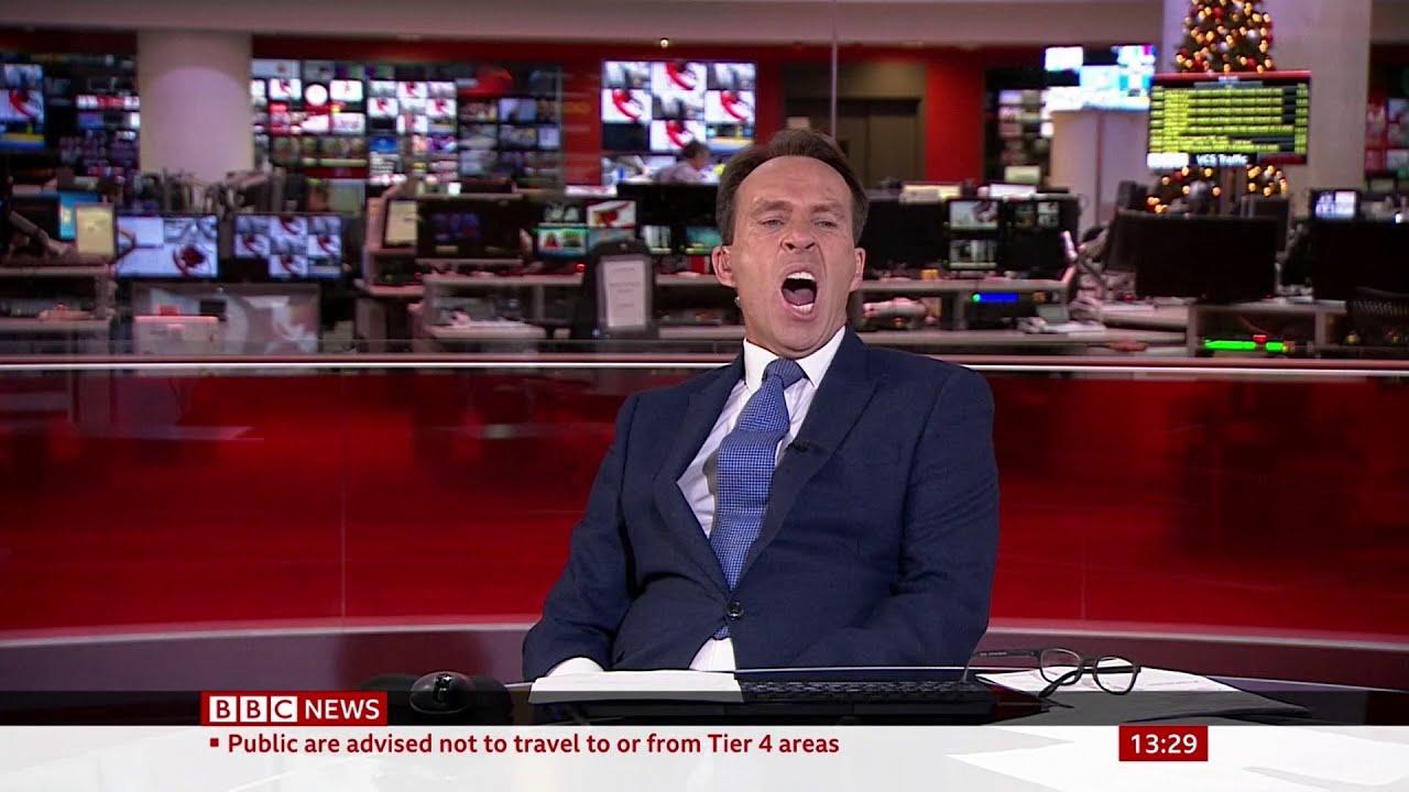 BBC News Presenter Caught Yawning