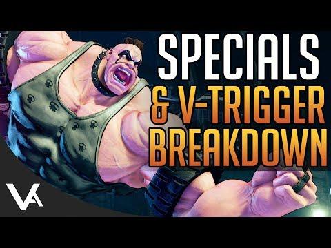 SFV - Abigail Specials & V-Trigger Gameplay Breakdown! Move List Explained For Street Fighter 5