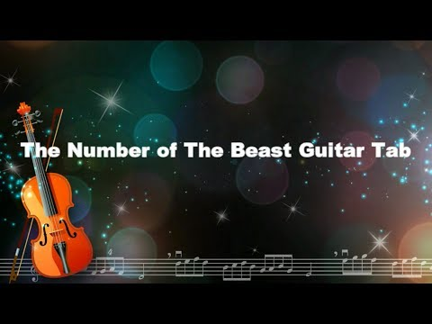 The number of the beast guitar tab Cover