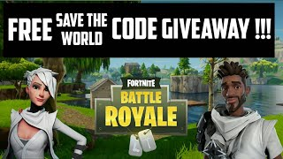 FORTNITE Save The World Free code GIVEAWAY!!!!