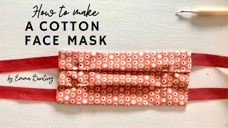 How to make a cotton face mask