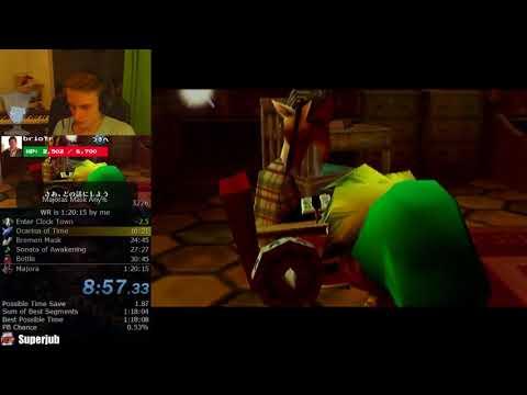 The Legend of Zelda: Majora's Mask Any% Speedrun World Record (1:19:55)