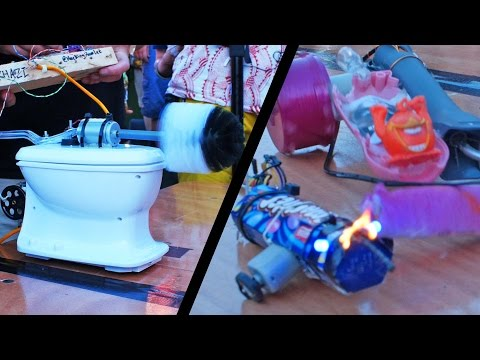 Hebocon UK: Deliberately Terrible Robot Fighting