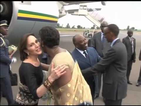 Arrivée du Président Ali Bongo Ondimba à Kigali