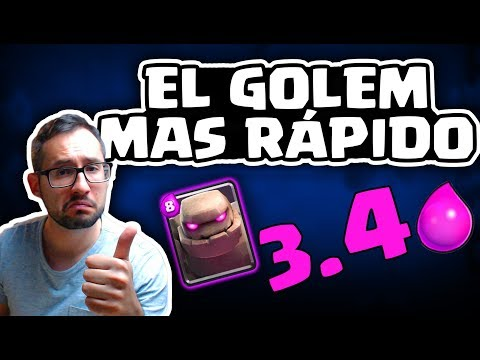 EL GOLEM MÁS RÁPIDO VIABLE PARA COPAS: ¡3.4 ELIXIR! | Malcaide Clash Royale