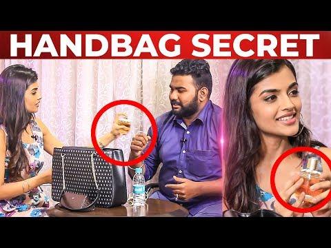 Evanukku Engeyo Macham Irukku Ashna Zaveri HANDBAG Secret Revealed | What's Inside the HANDBAG
