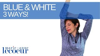 🇫🇷 3 Ways T๐ Wear Blue And White | French Chic for Women Over 50