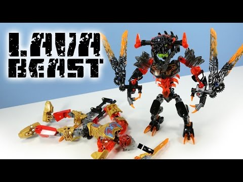 LEGO Bionicle Lava Beast Set 71313 Speed Build Review
