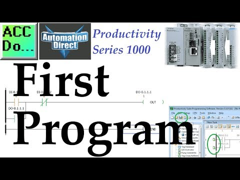 Productivity 1000 Series PLC First Program