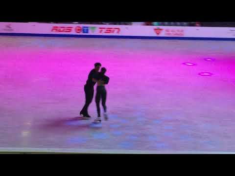 Tessa Virtue & Scott Moir. Gala practice. Exhibition Long Time Running. SCI 2017.