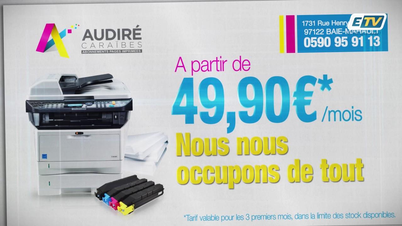 Audiré Caraïbes un forfait tout compris pour vos imprimantes et copieurs