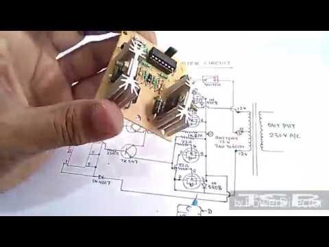 how to make 300va inverter circuit easy at home yt 52 youtube rh youtube com Simple Circuit Diagram UPS Block Diagram