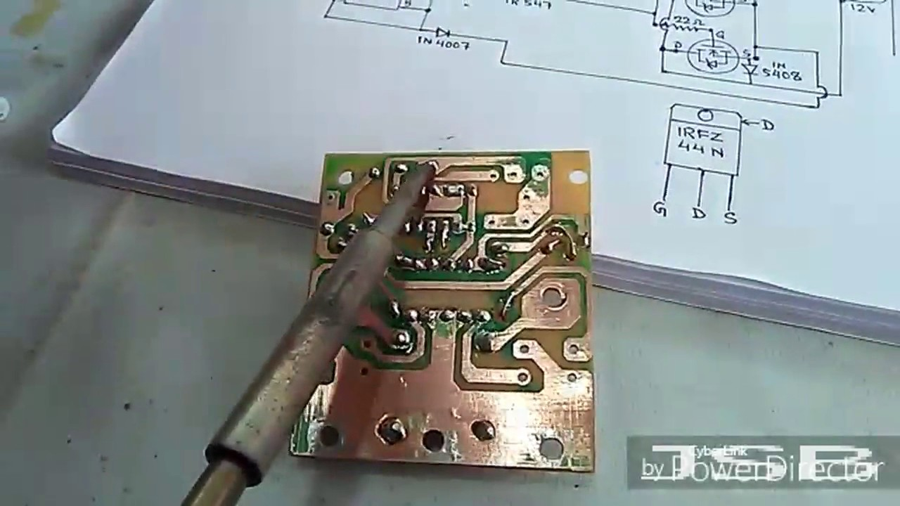 Ic 4047 2n3055 With Pcb Inverter 100w Electronic Circuits