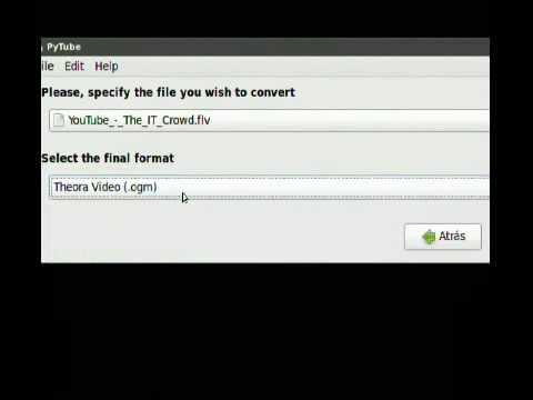 PyTube: descargador, conversor y editor de videos