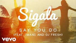 Sigala ft. Imani, DJ Fresh - Say You Do