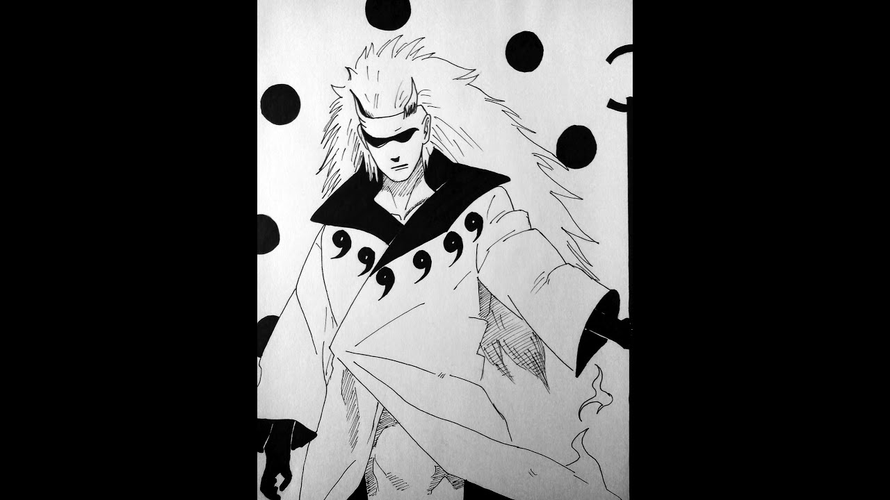 drawing madara uchiha ten tails jinchuuriki youtube