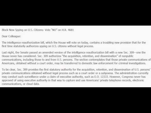 Spying On Americans Communications Now Completely Legal With The Intelligence Authorization Act 2015
