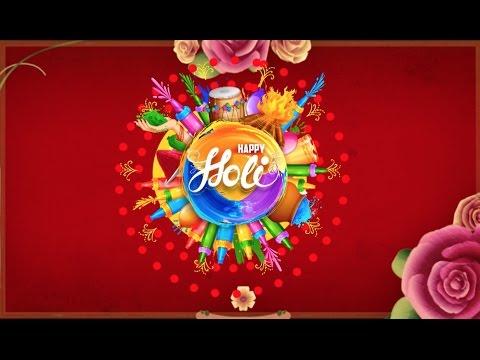 Happy holi 2017, wallpaper, animation, gifs, song, whatsapp video.