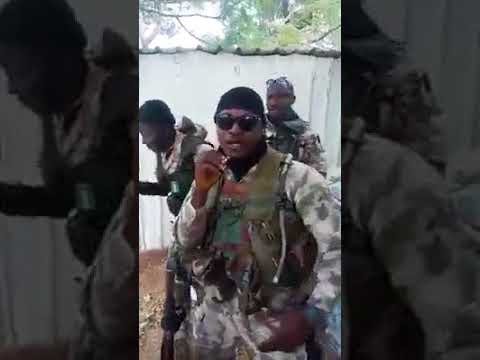 Download This Nigerian Soldier can be a rap star!