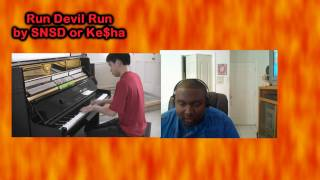 SNSD - Run Devil Run (Piano Beatbox Cover) Kesha Run Devil Run