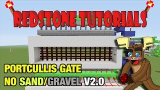 "Portcullis Gate No Sand/Gravel V2.0 ""Tutorial"" (Minecraft Xbox/Ps3)"