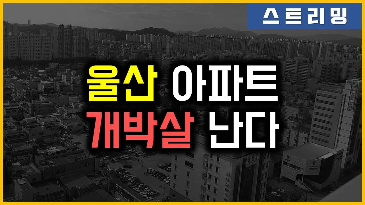 울산 아파트 - 개박살 난다