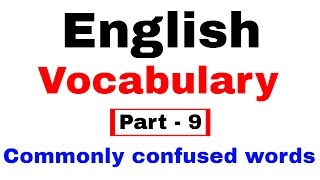 English Vocabulary for Bank po and SSC CGL  [In Hindi] Part 9