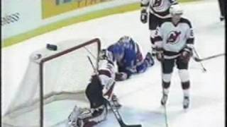 2002-03 vs NYR Martin Brodeur Save on Brian Leetch