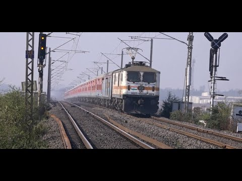 Recently Upgraded Superfast Swaraj Express & Dee Bdts Express With Modern LHB Coaches !!!