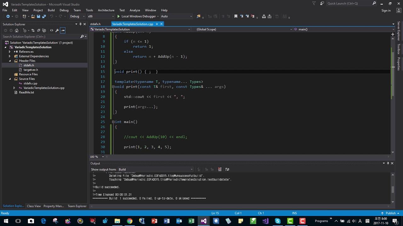 Variadic Templates in C++ - YouTube