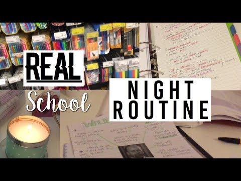 SCHOOL NIGHT ROUTINE (gcse remarks, homework & stationery shopping)