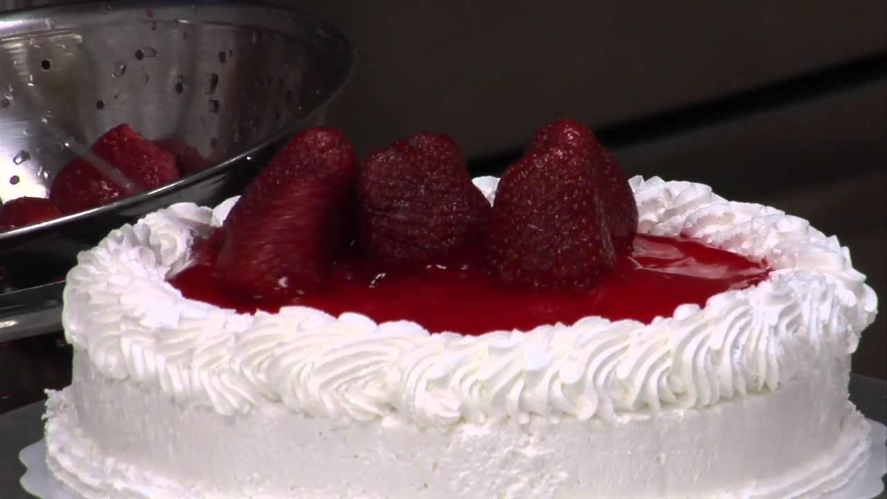 Cake Decorating Ideas Strawberry : Cake Decoration Number 03 Strawberry Short Cake - YouTube