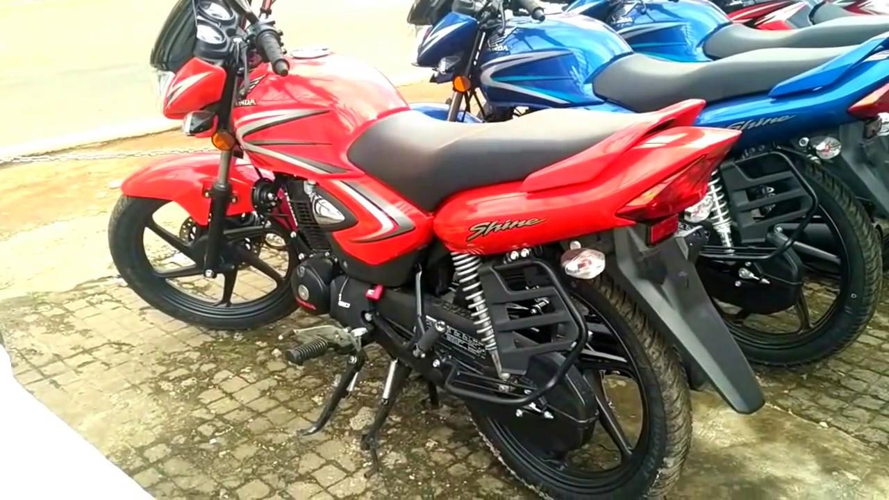 Honda Cb Shine Sports Red Colour Youtube
