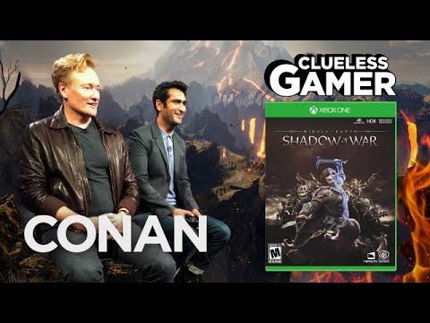 "Clueless Gamer: ""Shadow Of War"" With Kumail Nanjiani  - CONAN on TBS"